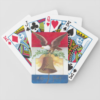 Eagle and Liberty Bell Fourth of July Deck Of Cards