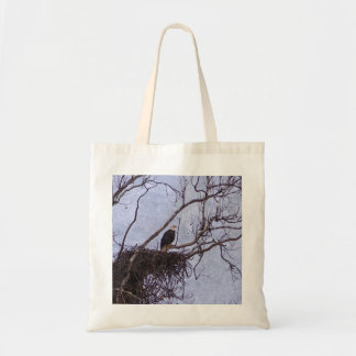Eagle And Nest Painterly Budget Tote Bag