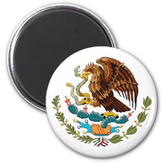 Eagle and snake Mexico Emblem for Mexicans 6 Cm Round Magnet