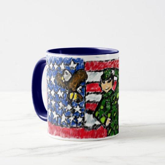 Eagle and solider mug