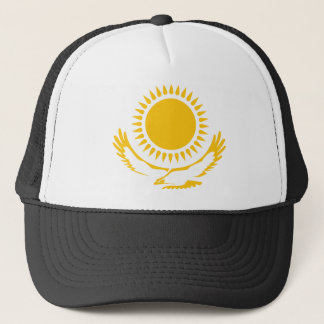 Eagle And Sun From The Kazakh, Kazakhstan Trucker Hat