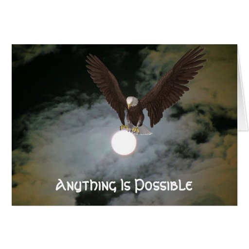 Eagle Anything Is Possible Inspirational Card