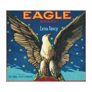 Eagle Apple Crate Label Canvas Print