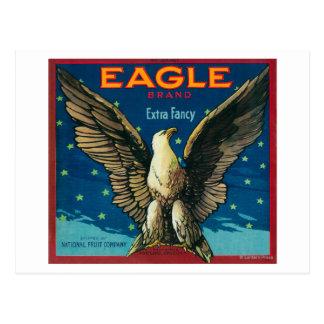 Eagle Apple Crate Label Postcard