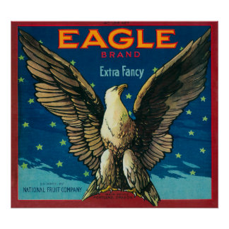 Eagle Apple Crate Label Poster
