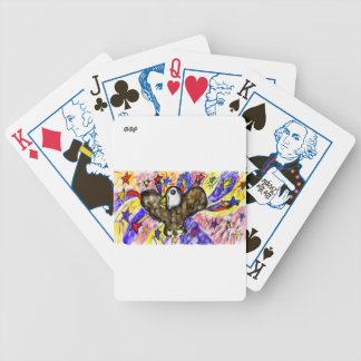 eagle art three bicycle playing cards