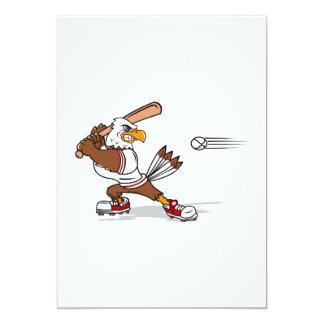 Eagle baseball player 13 cm x 18 cm invitation card