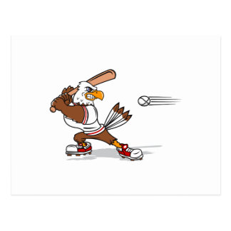 Eagle baseball player postcard