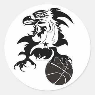 Eagle-Basketball-1-logo-2 Round Sticker
