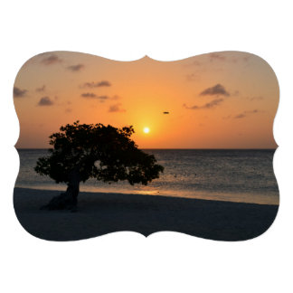 Eagle Beach Sunset Personalized Announcements