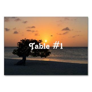 Eagle Beach Sunset Table Cards
