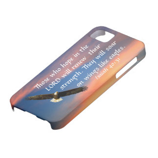 eagle bible verse Isaiah 40:31 iPhone 5/5S cover