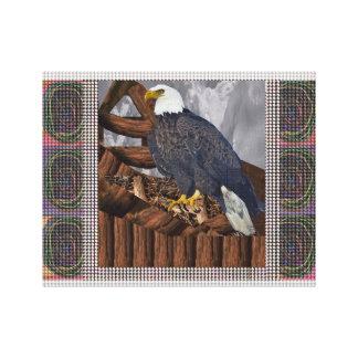 Eagle Bird Prey Nest America King Majestic Symbol Gallery Wrap Canvas