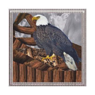 Eagle Bird Prey Nest America King Majestic Symbol Canvas Prints