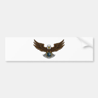 Eagle Bowling Sports Mascot Bumper Sticker