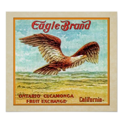 Eagle Brand Fruit Crate Label Posters