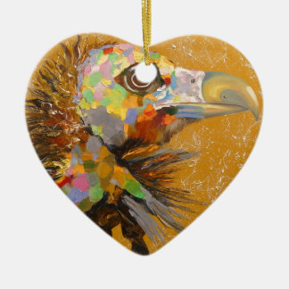 Eagle Ceramic Heart Decoration