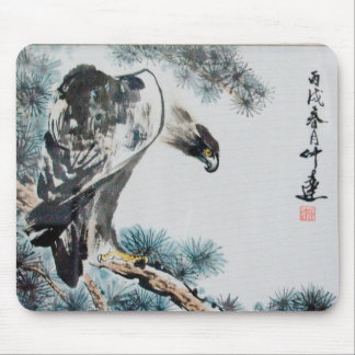 Eagle - Chinese Painting Mousepad