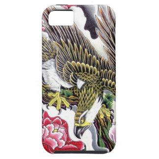 Eagle & Chrysanthemum tattoo design iPhone 5 Case