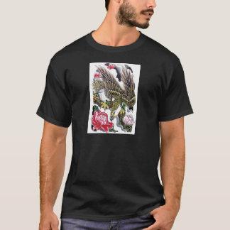 Eagle & Chrysanthemum Tattoo design T-Shirt
