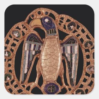 Eagle clasp from Gisela, Wife of Emperor Conrad Square Sticker