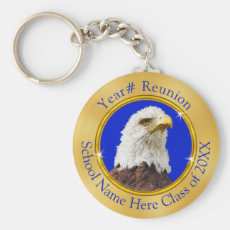 Eagle Class Reunion Gifts with YOUR TEXT or LOGO Key Ring