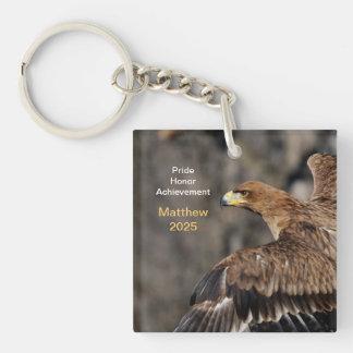 Eagle - Congratulations - Customizable - Keepsake Double-Sided Square Acrylic Key Ring