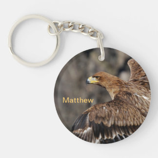 Eagle - Customizable - Achievement - Recognition Double-Sided Round Acrylic Key Ring