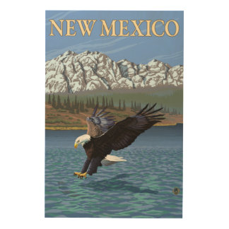 Eagle DivingNew Mexico Wood Wall Decor