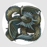 Eagle Dragon Classic Round Sticker