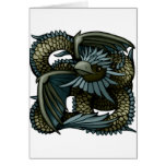 Eagle Dragon Greeting Card