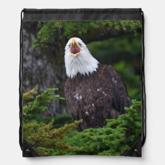 eagle drawstring backpack