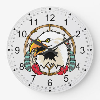 Eagle Dreamcatcher Large Clock