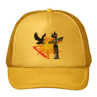 Eagle, Eagle Totem, & Feather design Trucker Hats