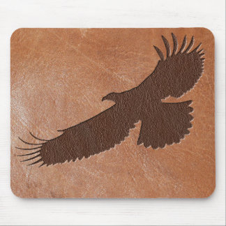 Eagle Embossed Leather Mouse Mat