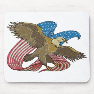 Eagle embroidered mousepads