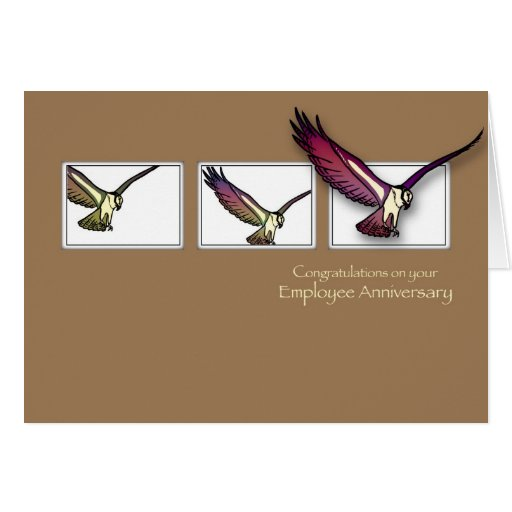 Eagle Employee Anniversary Congratulations Greeting Card