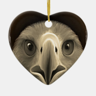 Eagle Eyes Ceramic Heart Decoration
