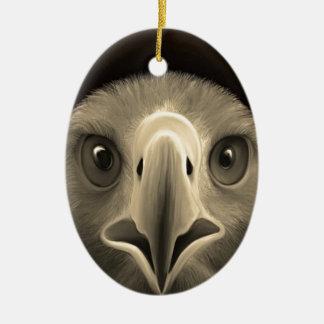 Eagle Eyes Ceramic Oval Decoration
