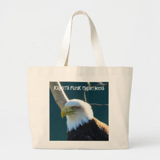 Eagle Eyes; Customizable Large Tote Bag