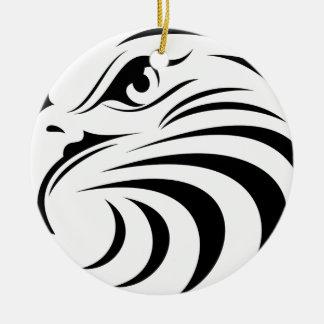 Eagle Face Silhouette Christmas Ornament
