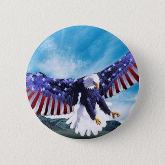 Eagle Flag 6 Cm Round Badge