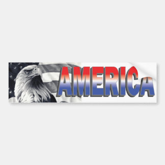 Eagle & Flag America Bumper Sticker