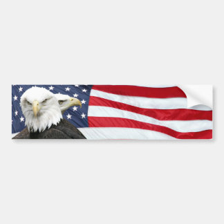 Eagle flag bumper sticker