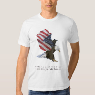 Eagle Flag Fight Corporate Greed Tee Shirts