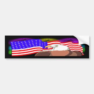 Eagle Flag Fireworks Bumper Stickers