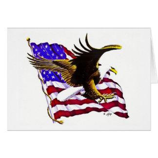 Eagle & Flag Greeting Card