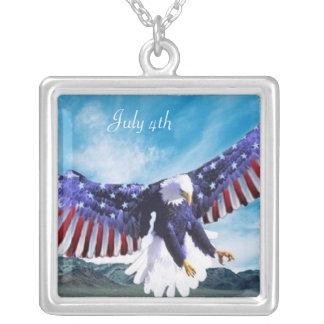 Eagle Flag Necklace