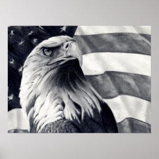 Eagle & Flag Poster Art