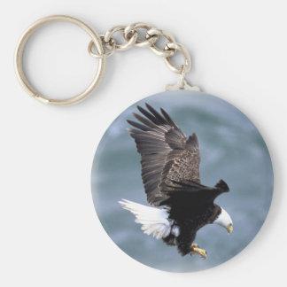 Eagle Flight Basic Round Button Key Ring